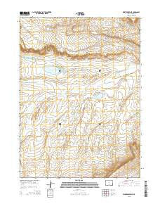 Kindt Reservoir Wyoming Current topographic map, 1:24000 scale, 7.5 X 7.5 Minute, Year 2015