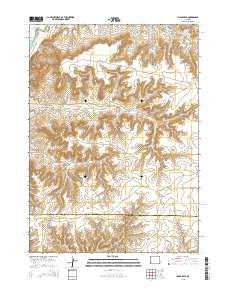 La Barge SE Wyoming Current topographic map, 1:24000 scale, 7.5 X 7.5 Minute, Year 2015