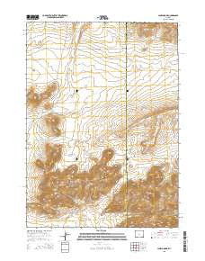 Lankin Dome Wyoming Current topographic map, 1:24000 scale, 7.5 X 7.5 Minute, Year 2015