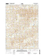 Lightning Creek Wyoming Current topographic map, 1:24000 scale, 7.5 X 7.5 Minute, Year 2015 from Wyoming Map Store