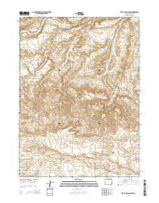 Little Indian Draw Wyoming Current topographic map, 1:24000 scale, 7.5 X 7.5 Minute, Year 2015