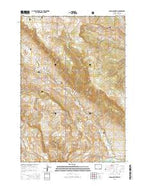 Logan Mountain Wyoming Current topographic map, 1:24000 scale, 7.5 X 7.5 Minute, Year 2015 from Wyoming Map Store