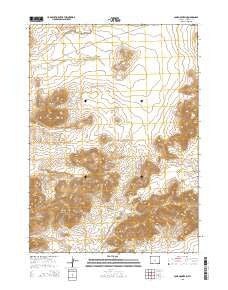 Lone Mountain Wyoming Current topographic map, 1:24000 scale, 7.5 X 7.5 Minute, Year 2015