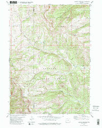 Lookout Mountain Wyoming Historical topographic map, 1:24000 scale, 7.5 X 7.5 Minute, Year 1980