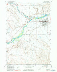 Lovell Wyoming Historical topographic map, 1:24000 scale, 7.5 X 7.5 Minute, Year 1966