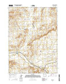 Lysite Wyoming Current topographic map, 1:24000 scale, 7.5 X 7.5 Minute, Year 2015