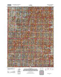 Manuel Gap Wyoming Historical topographic map, 1:24000 scale, 7.5 X 7.5 Minute, Year 2012