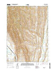 Marse Wyoming Current topographic map, 1:24000 scale, 7.5 X 7.5 Minute, Year 2015