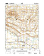 Medicine Bow Wyoming Current topographic map, 1:24000 scale, 7.5 X 7.5 Minute, Year 2015 from Wyoming Map Store