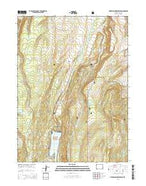 Meeks Cabin Reservoir Wyoming Current topographic map, 1:24000 scale, 7.5 X 7.5 Minute, Year 2015 from Wyoming Map Store