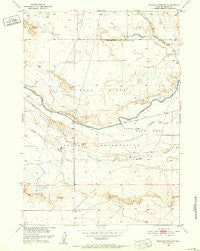 Mexican Pass SW Wyoming Historical topographic map, 1:24000 scale, 7.5 X 7.5 Minute, Year 1950