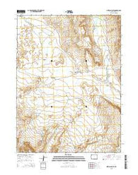 Mexican Flats Wyoming Current topographic map, 1:24000 scale, 7.5 X 7.5 Minute, Year 2015