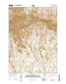 Mexican Pass Wyoming Current topographic map, 1:24000 scale, 7.5 X 7.5 Minute, Year 2015