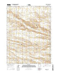 Midway SE Wyoming Current topographic map, 1:24000 scale, 7.5 X 7.5 Minute, Year 2015