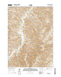 Mikes Draw Wyoming Current topographic map, 1:24000 scale, 7.5 X 7.5 Minute, Year 2015