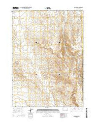 Miles Ranch Wyoming Current topographic map, 1:24000 scale, 7.5 X 7.5 Minute, Year 2015
