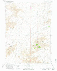 Miller Spring Wyoming Historical topographic map, 1:24000 scale, 7.5 X 7.5 Minute, Year 1959