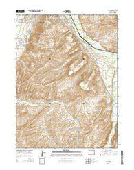 Millis Wyoming Current topographic map, 1:24000 scale, 7.5 X 7.5 Minute, Year 2015