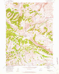 Miners Delight Wyoming Historical topographic map, 1:24000 scale, 7.5 X 7.5 Minute, Year 1954