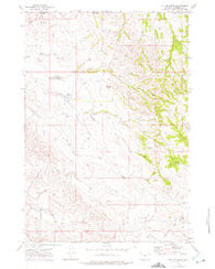 Mitten Butte Wyoming Historical topographic map, 1:24000 scale, 7.5 X 7.5 Minute, Year 1972