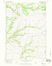 Monument Hill Wyoming Historical topographic map, 1:24000 scale, 7.5 X 7.5 Minute, Year 1966