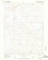 Monument Lake Wyoming Historical topographic map, 1:24000 scale, 7.5 X 7.5 Minute, Year 1966
