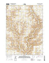 Monument Butte Wyoming Current topographic map, 1:24000 scale, 7.5 X 7.5 Minute, Year 2015