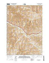 Morgan Draw Wyoming Current topographic map, 1:24000 scale, 7.5 X 7.5 Minute, Year 2015