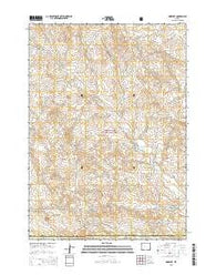 Morrisey Wyoming Current topographic map, 1:24000 scale, 7.5 X 7.5 Minute, Year 2015