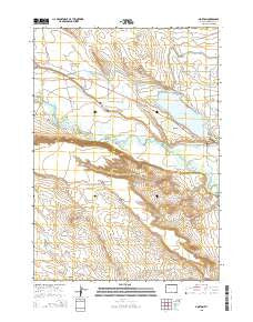 Morton Wyoming Current topographic map, 1:24000 scale, 7.5 X 7.5 Minute, Year 2015