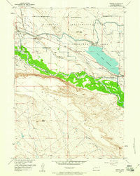 Morton Wyoming Historical topographic map, 1:24000 scale, 7.5 X 7.5 Minute, Year 1959