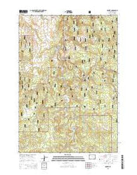 Moskee Wyoming Current topographic map, 1:24000 scale, 7.5 X 7.5 Minute, Year 2015