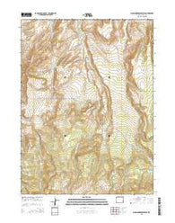 Moslander Reservoir Wyoming Current topographic map, 1:24000 scale, 7.5 X 7.5 Minute, Year 2015