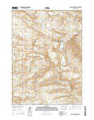 Moss Agate Reservoir Wyoming Current topographic map, 1:24000 scale, 7.5 X 7.5 Minute, Year 2015