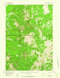 Mount Hancock Wyoming Historical topographic map, 1:62500 scale, 15 X 15 Minute, Year 1959