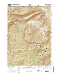Mount Arter Wyoming Current topographic map, 1:24000 scale, 7.5 X 7.5 Minute, Year 2015