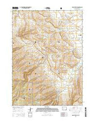 Mount Arter SE Wyoming Current topographic map, 1:24000 scale, 7.5 X 7.5 Minute, Year 2015