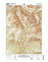 Mount Bonneville Wyoming Current topographic map, 1:24000 scale, 7.5 X 7.5 Minute, Year 2015