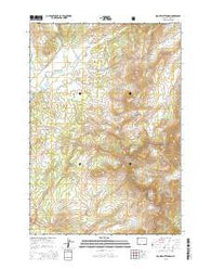 Mount Chittenden Wyoming Current topographic map, 1:24000 scale, 7.5 X 7.5 Minute, Year 2015
