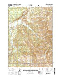Mount Hancock Wyoming Current topographic map, 1:24000 scale, 7.5 X 7.5 Minute, Year 2015