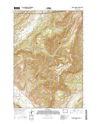 Mount Hornaday Wyoming Current topographic map, 1:24000 scale, 7.5 X 7.5 Minute, Year 2015
