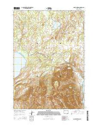 Mount Sheridan Wyoming Current topographic map, 1:24000 scale, 7.5 X 7.5 Minute, Year 2015