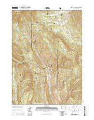 Mount Thompson Wyoming Current topographic map, 1:24000 scale, 7.5 X 7.5 Minute, Year 2015