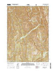 Mount Wagner Wyoming Current topographic map, 1:24000 scale, 7.5 X 7.5 Minute, Year 2015