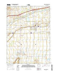 Mountain View Wyoming Current topographic map, 1:24000 scale, 7.5 X 7.5 Minute, Year 2015