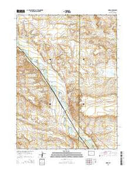 Moxa Wyoming Current topographic map, 1:24000 scale, 7.5 X 7.5 Minute, Year 2015