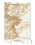 Mud Springs Wyoming Current topographic map, 1:24000 scale, 7.5 X 7.5 Minute, Year 2015 from Wyoming Map Store