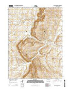 Mud Springs Ranch Wyoming Current topographic map, 1:24000 scale, 7.5 X 7.5 Minute, Year 2015 from Wyoming Map Store