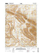 Muddy Gap Wyoming Current topographic map, 1:24000 scale, 7.5 X 7.5 Minute, Year 2015 from Wyoming Map Store