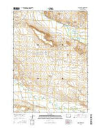 Mule Butte Wyoming Current topographic map, 1:24000 scale, 7.5 X 7.5 Minute, Year 2015 from Wyoming Map Store
